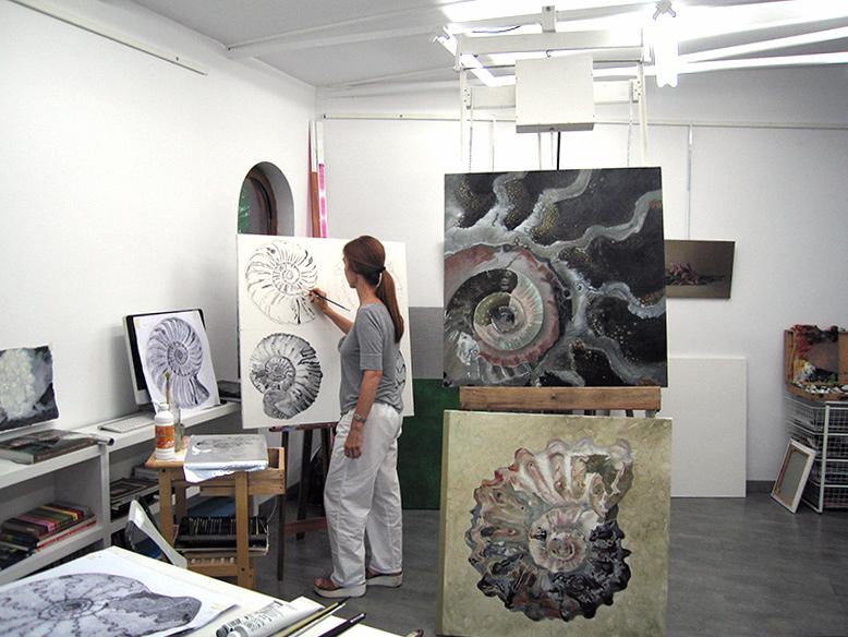 Almudena Salamanca en su estudio
