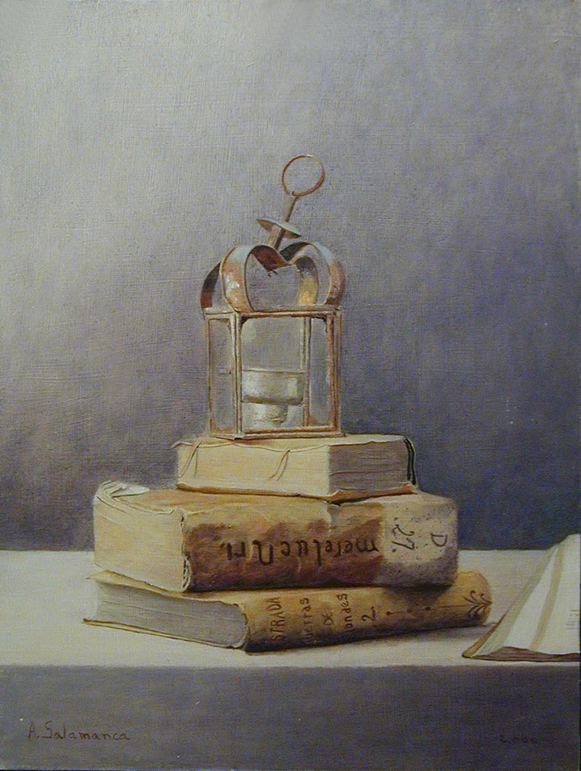 Candil y libros