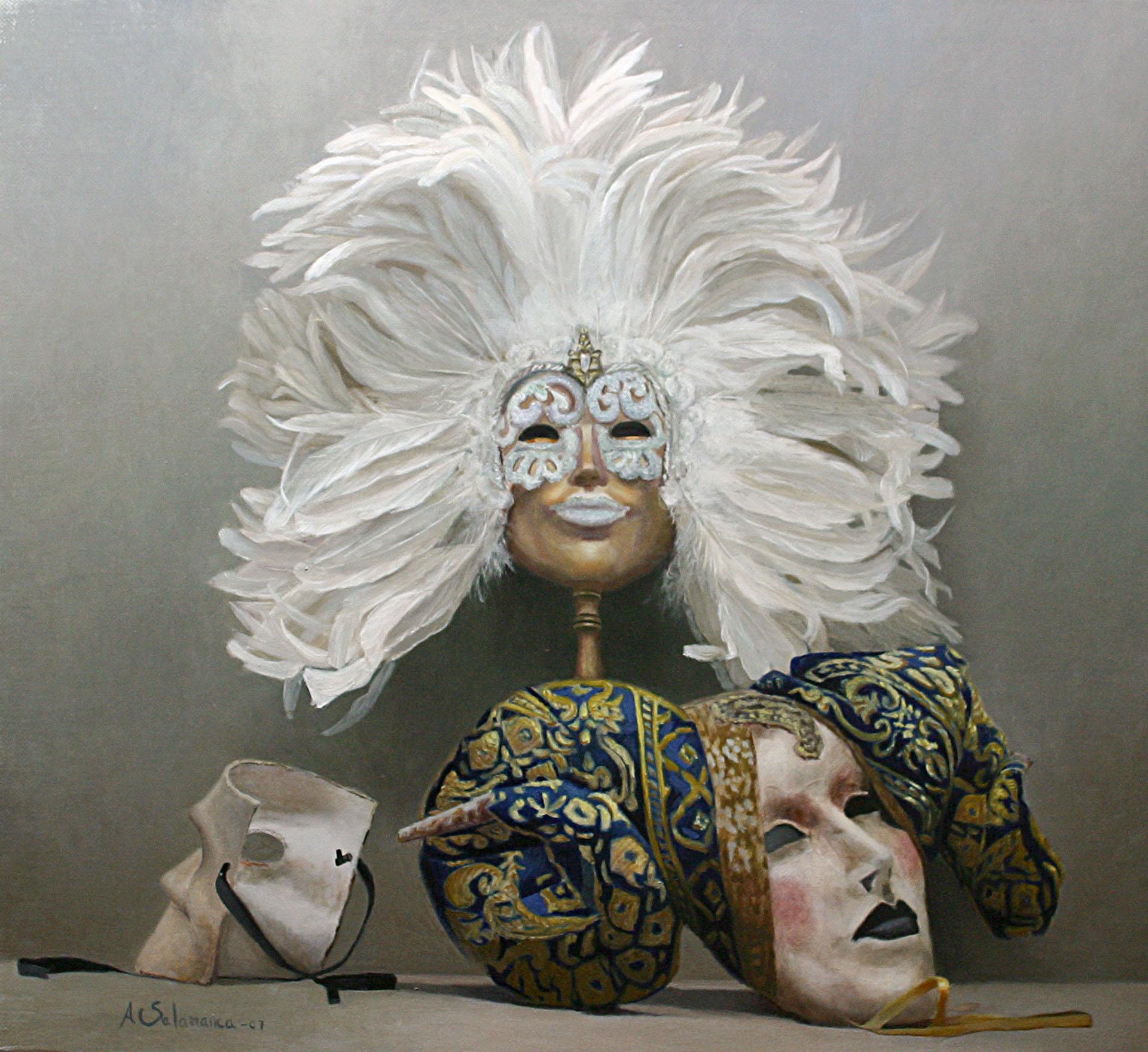 Bodegón máscaras