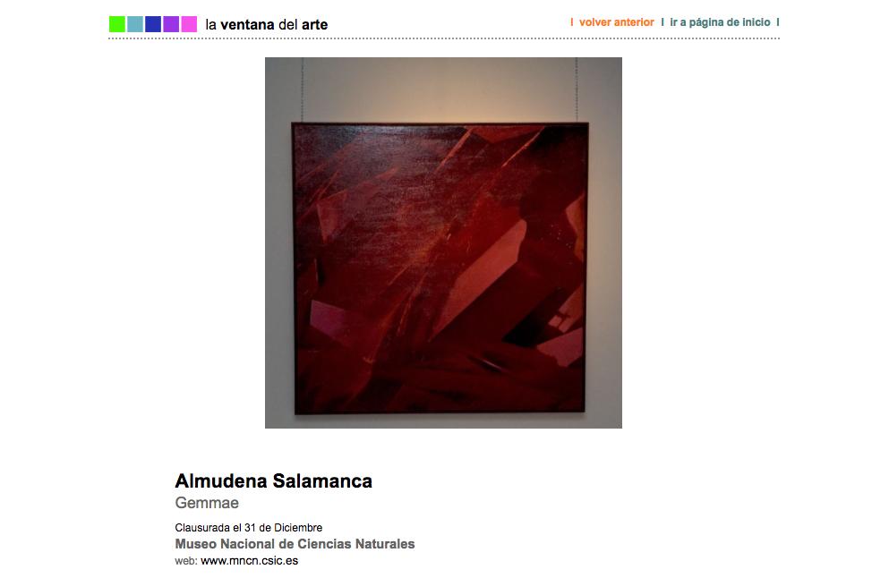 Almudena Salamanca en La Ventana del Arte