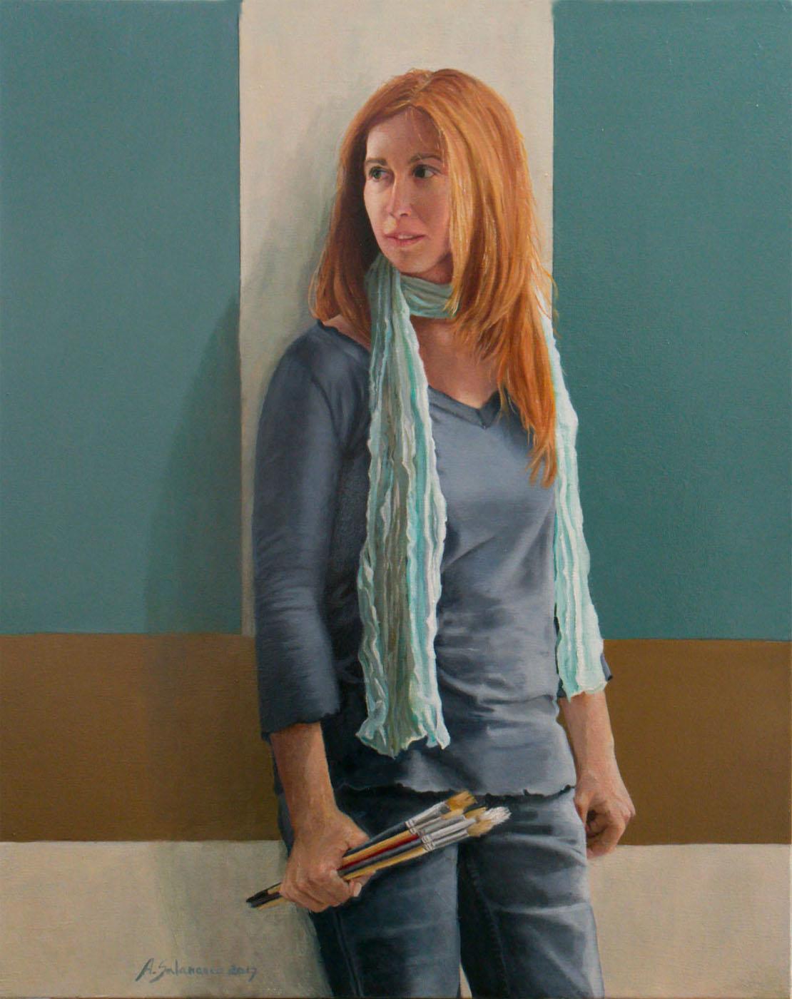 """""""Alegoría de la pintura"""" óleo sobre lienzo de 81x60."""