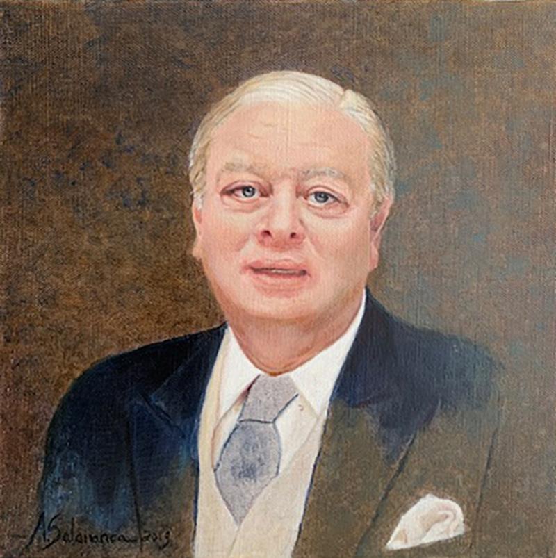 Retrato de Fernando, óleo sobre lienzo. 33x33cm
